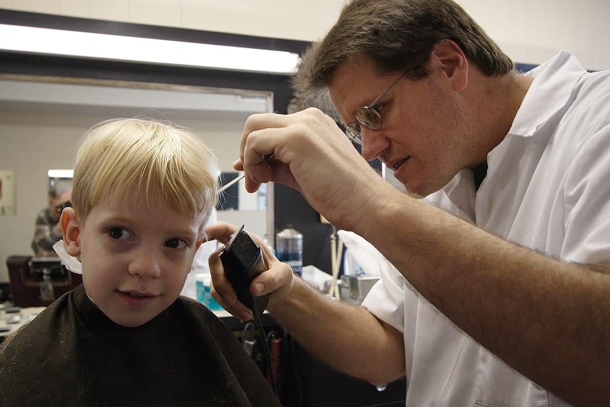 In the barbershop