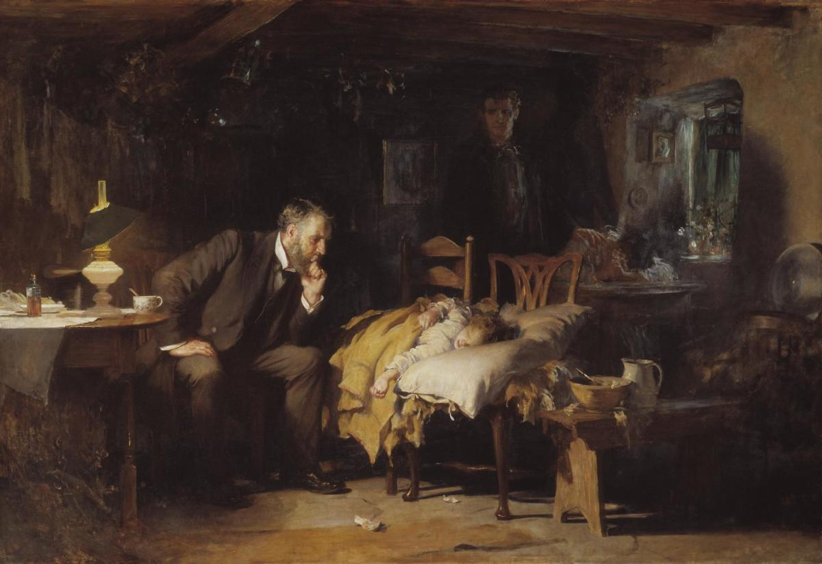 This painting by British painter, Sir Luke Fildes, was exhibited in 1891 in London about the time my Great-Aunt Margorie Flatt was born in Campbellville, Ontario, Canada.