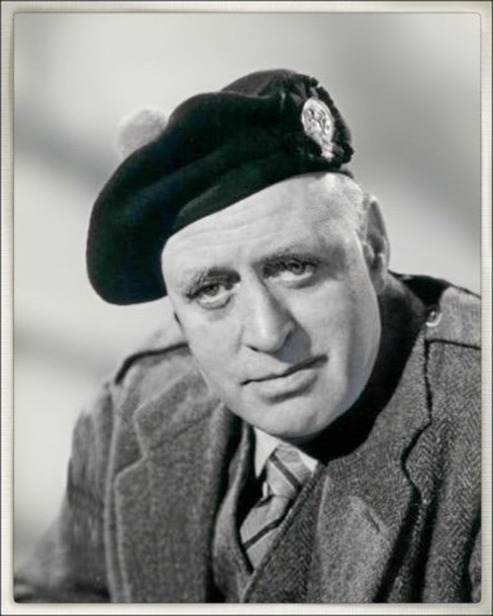 Alastair Sim as the Laird in the film Geordie
