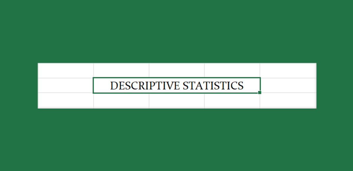 How to Use Microsoft Excel's Data Analysis ToolPak for Descriptive Statistics