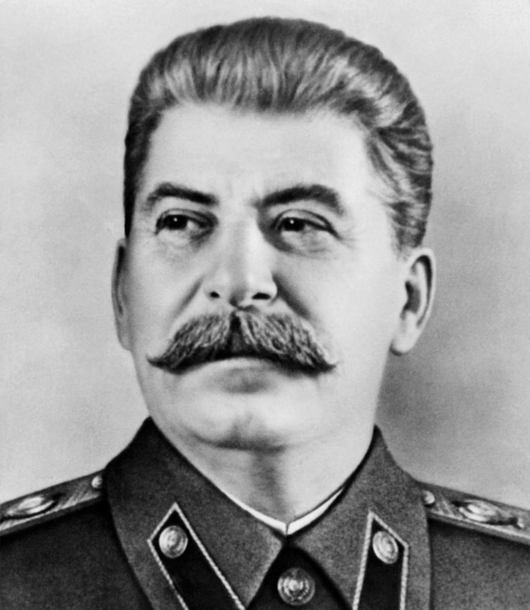Portrait of Joseph Stalin during the mid-Twentieth Century.