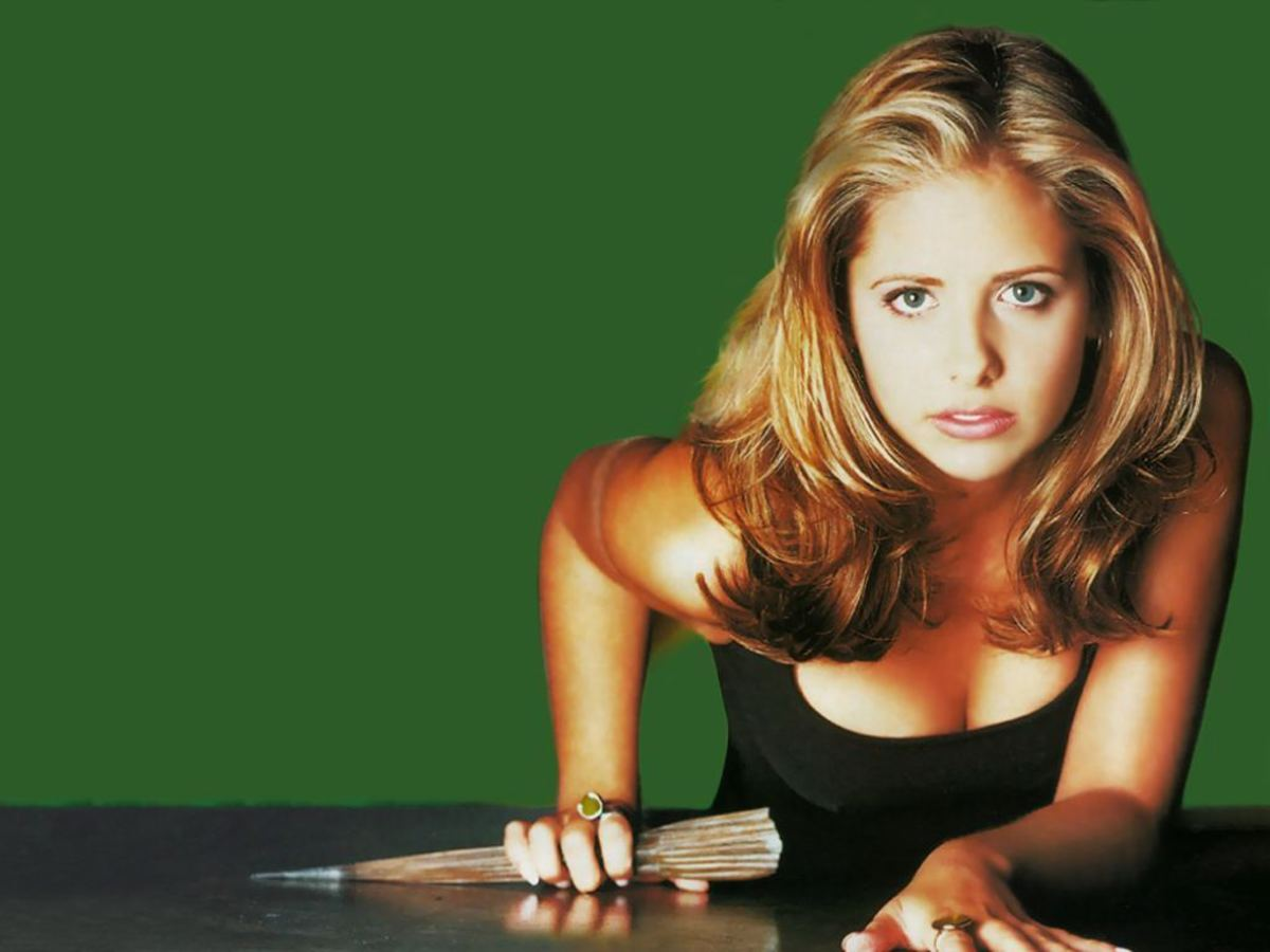 Sarah Michelle Gellar as Buffy Summers.