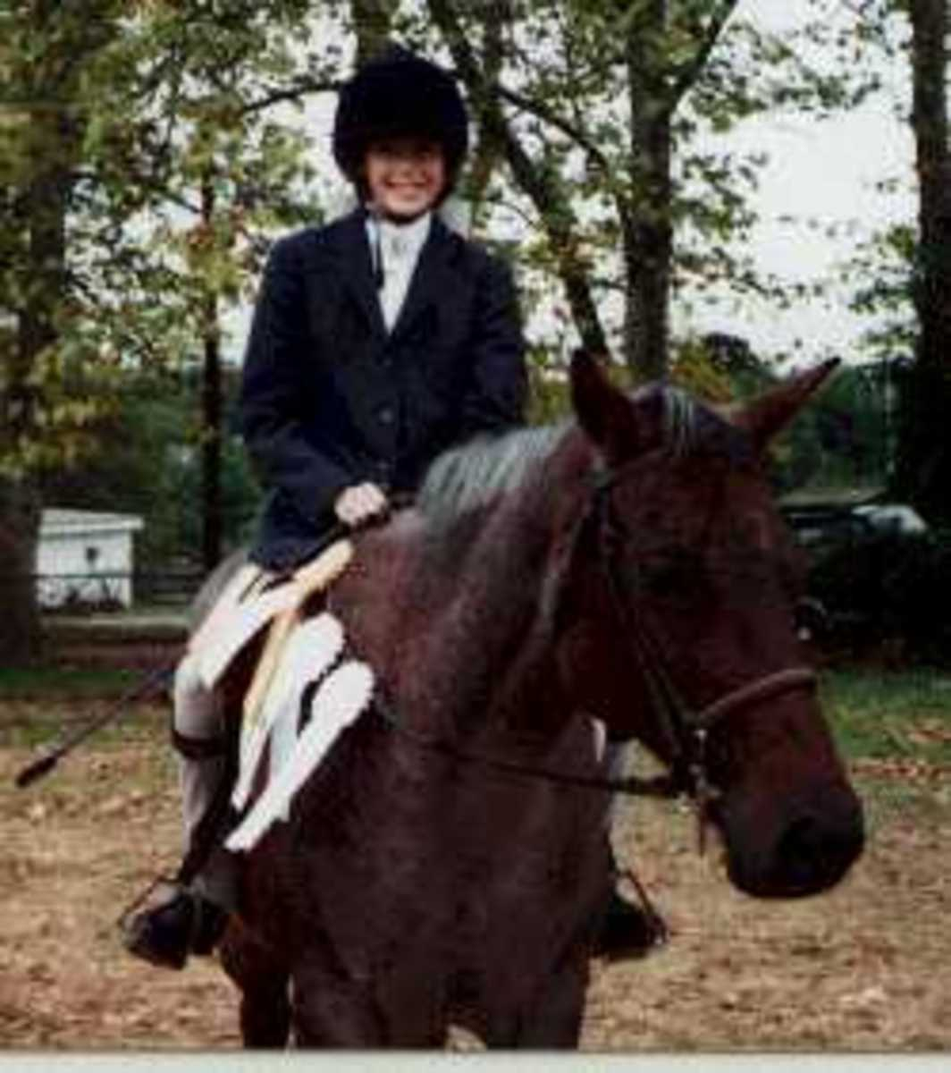This is Frostline. With time, and good instruction, she went from being the pony I begged not to ride, to the pony I didn't want to ever move on from!