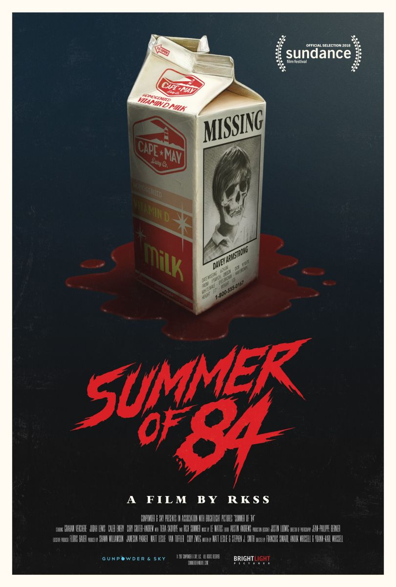 "The official theatrical poster for, ""Summer of 84."""
