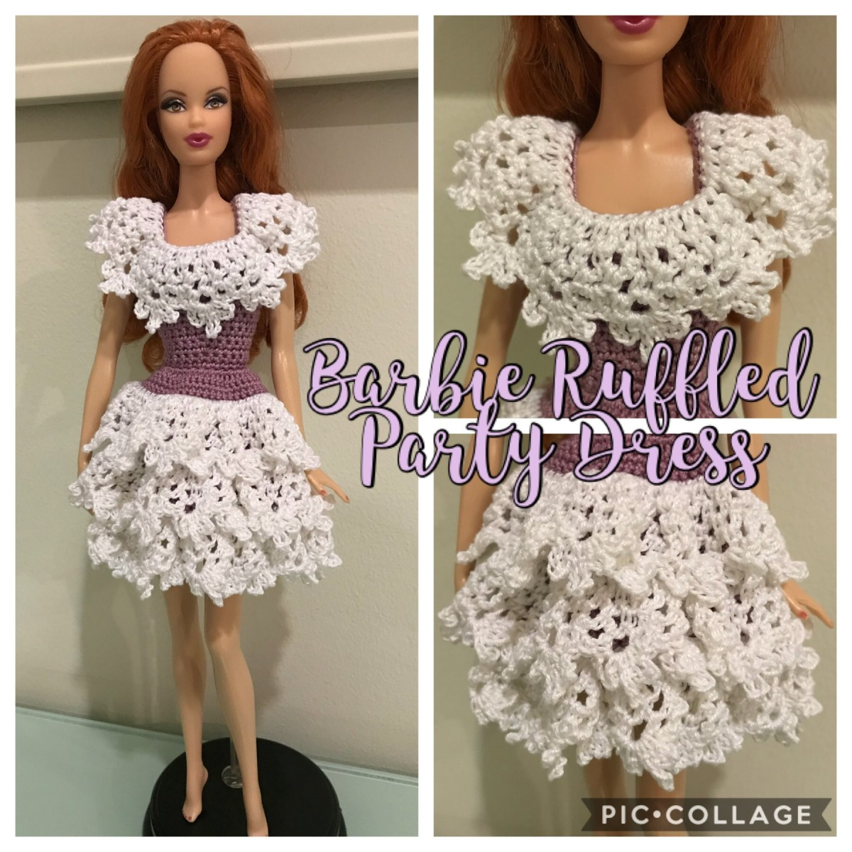 Crochet a Ruffled Party Dress for Barbie: Free Pattern
