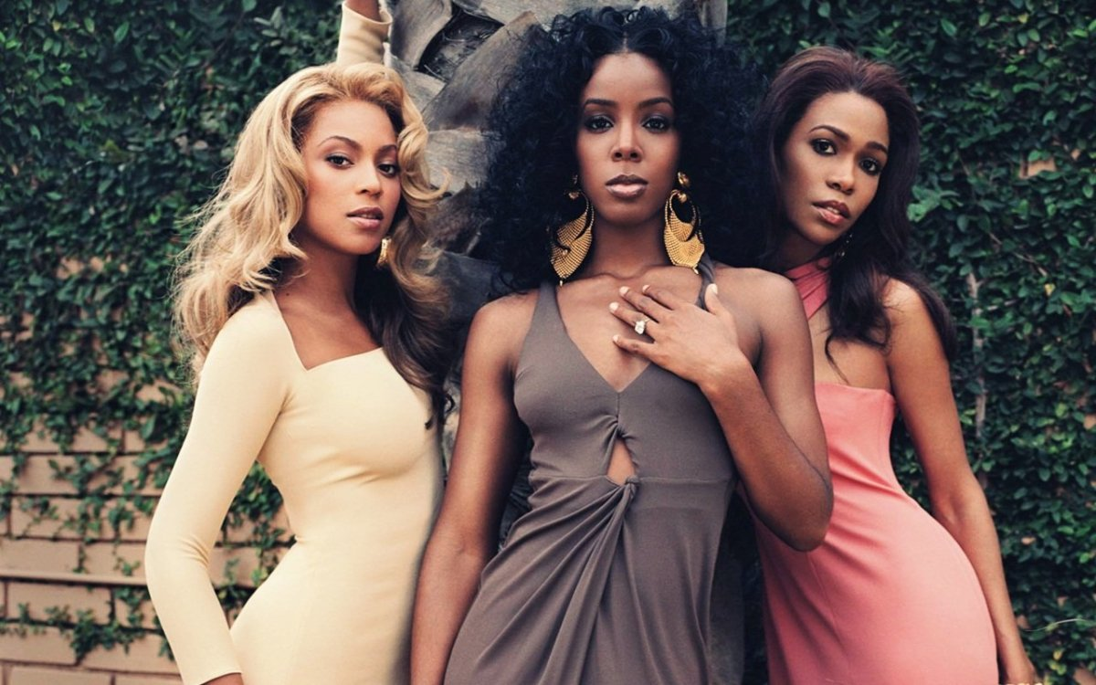Destiny's Child: Beyoncé Knowles, Kelly Rowland, and Michelle Williams.