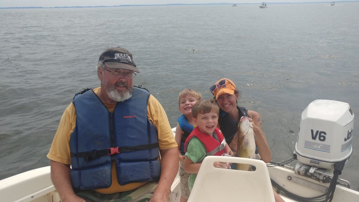 Fishing is more fun with family!