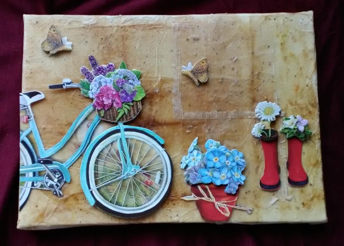 Recycled Tea Bags: Tea Bag Wrapped Canvas Art