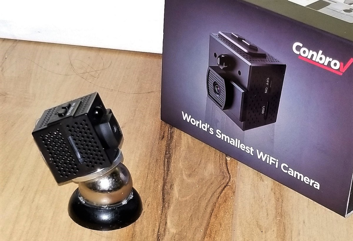 Review of Conbrov Mini Spy Camera (World's Smallest WiFi Security Cam)