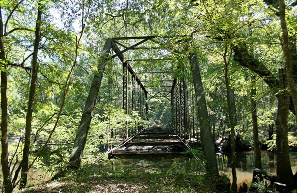 Remains of the Bellamy Bridge in Northwest Florida and the home of Elizabeth Bellamy's ghost