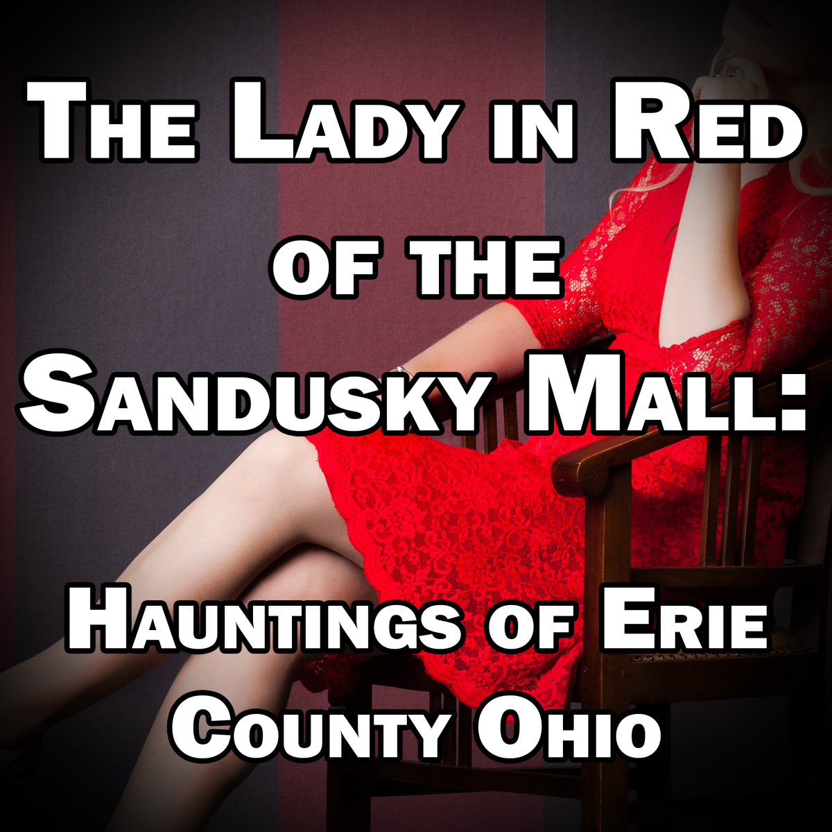 Could the Sandusky Mall be haunted by the ghost of a mysterious woman in a red dress?