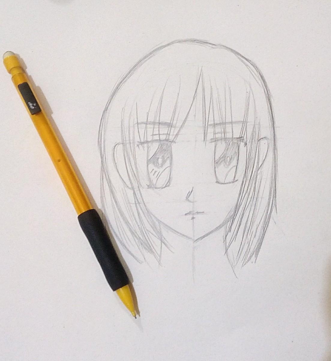 How to draw an anime girl face shojo