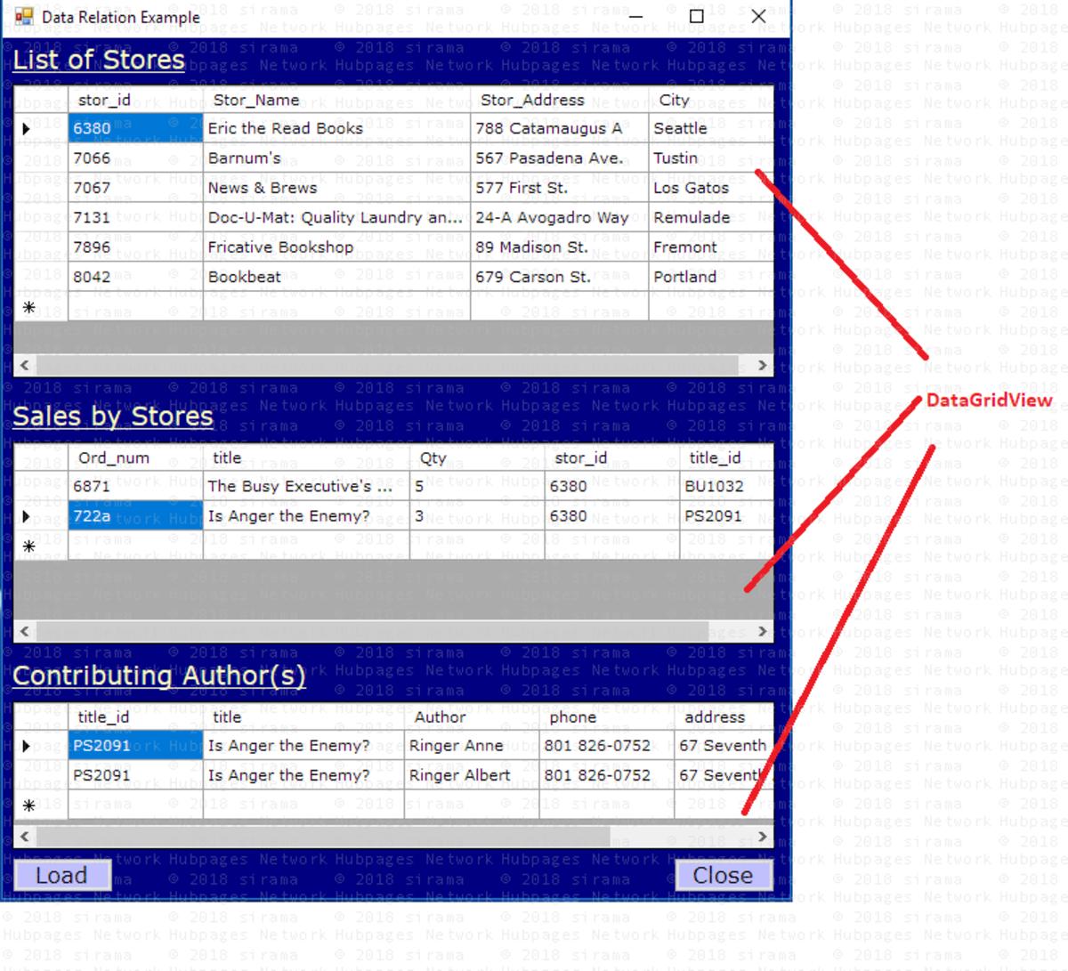 Establish DataTable Relation Using C# Ado net DataRelation