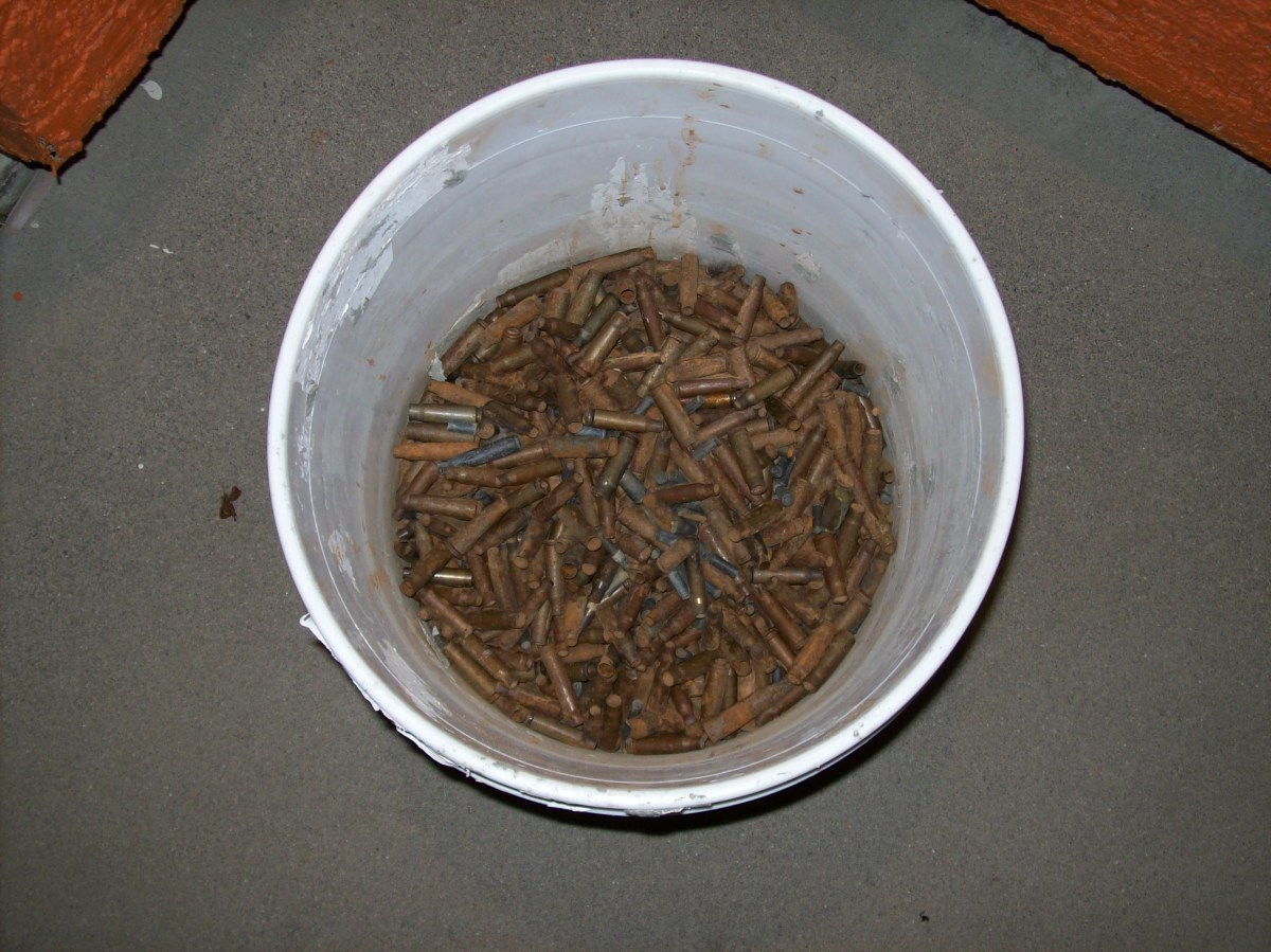 Steel shell casings can be sold, though bringing a relatively small amount per pound.