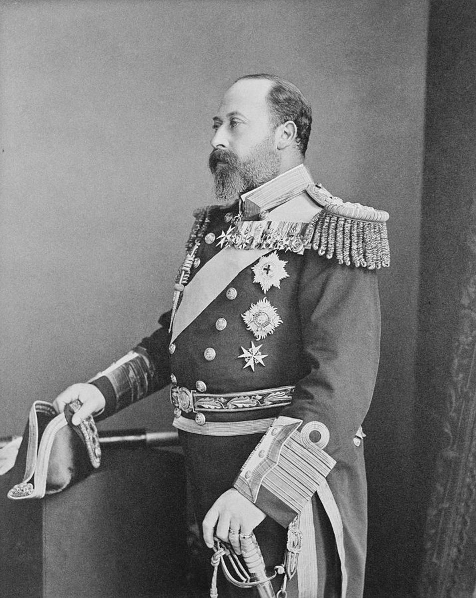 The Prince of Wales in his admiral's costume.