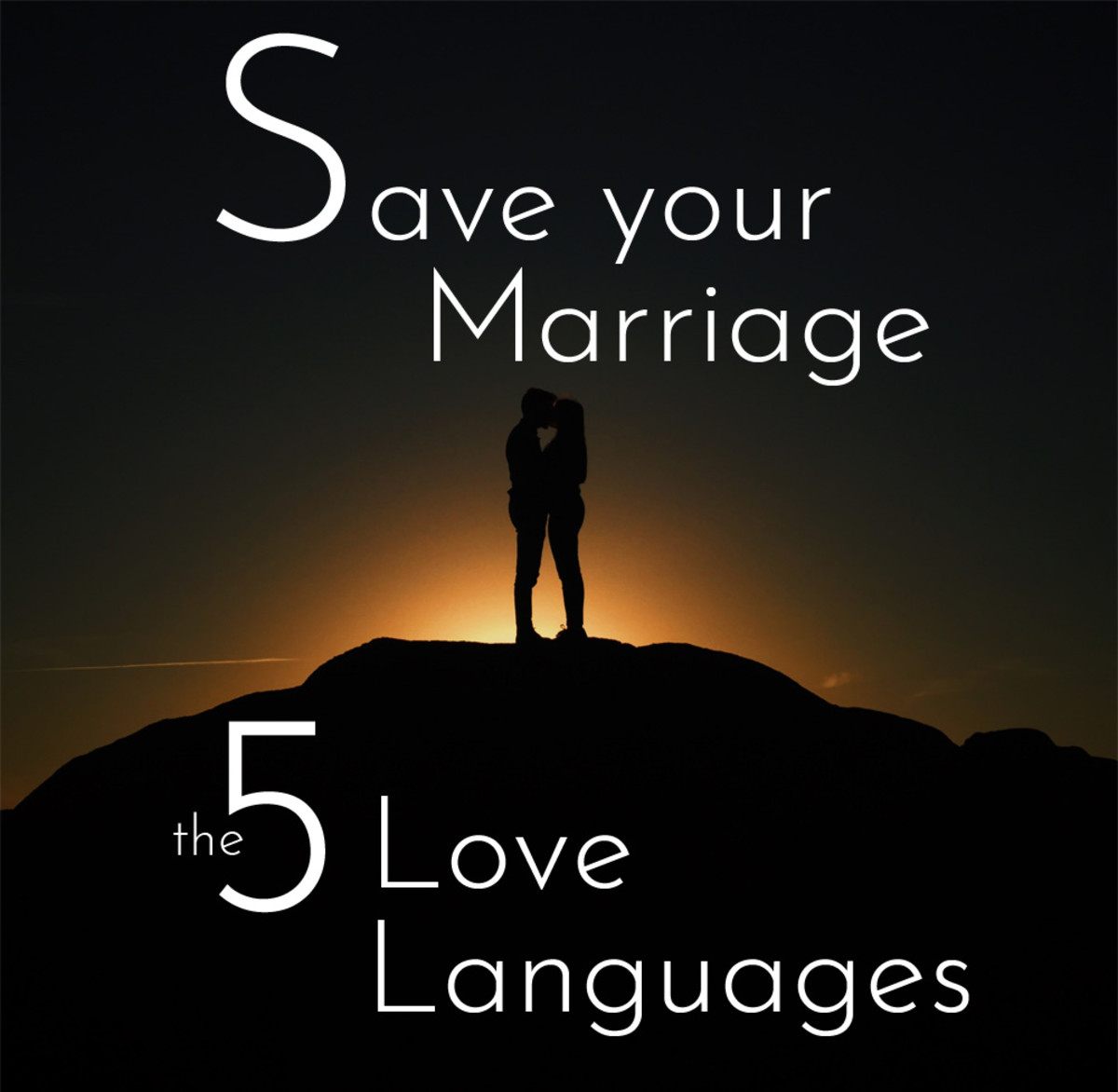 Save your marriage using the 5 Love Languages.