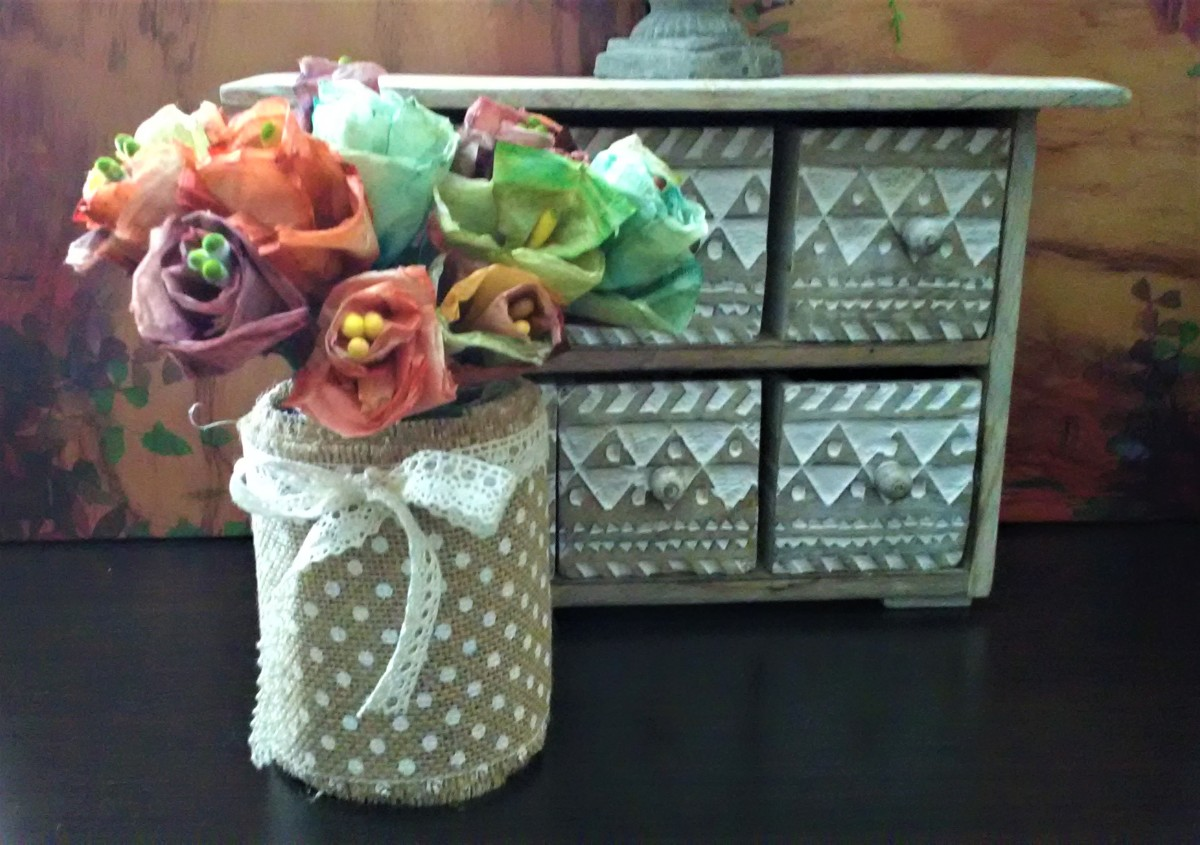 Recycled Tea Bags: Tea Bag Roses