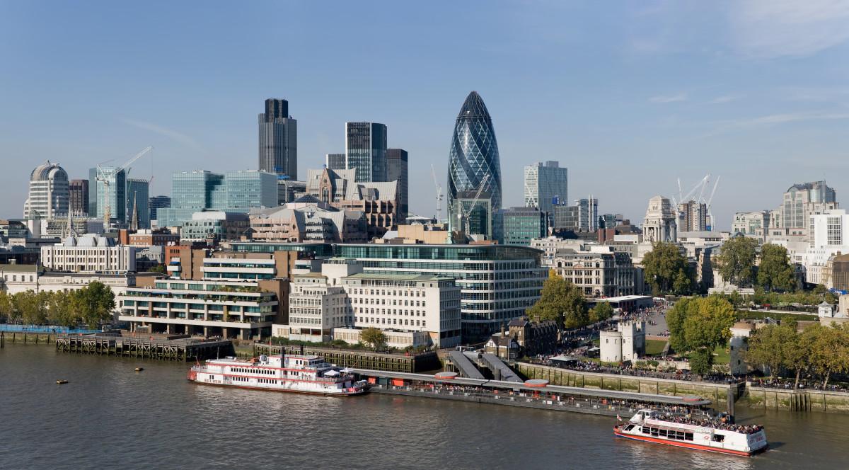 City of London skyline from London City Hall