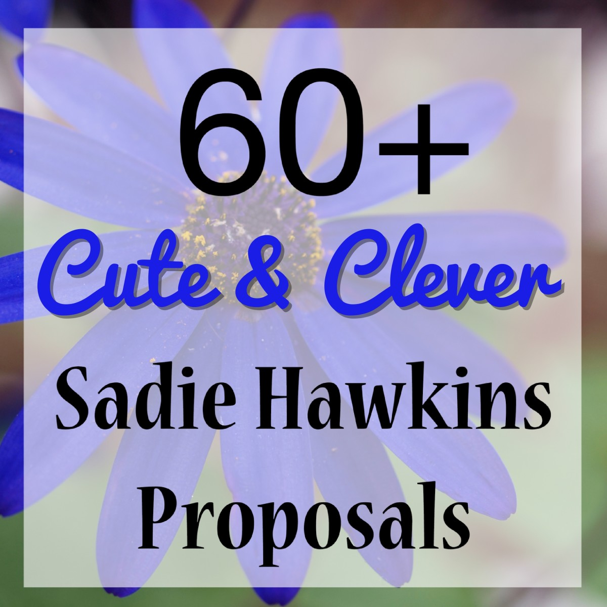 Need ideas on how to ask your crush to the Sadie Hawkins dance?  Here are over 60 to choose from.