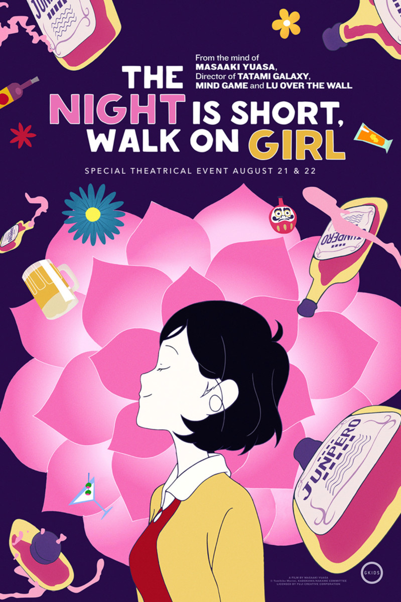"The official one-sheet theatrical poster for, ""The Night is Short, Walk on Girl."""