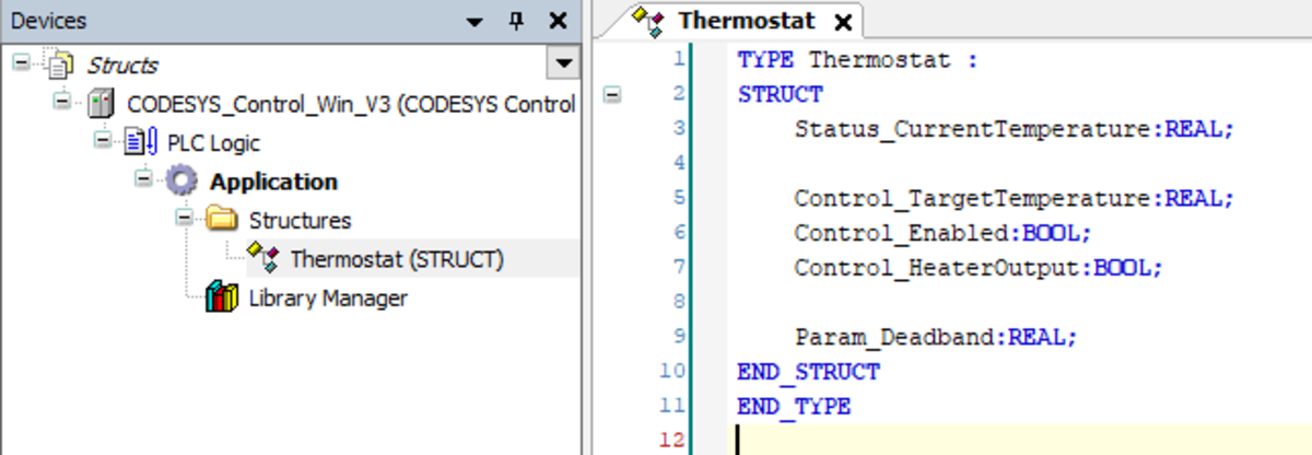 PLC Programming With CoDeSys - Using Data Unit Types (DUT) To Simplify Code