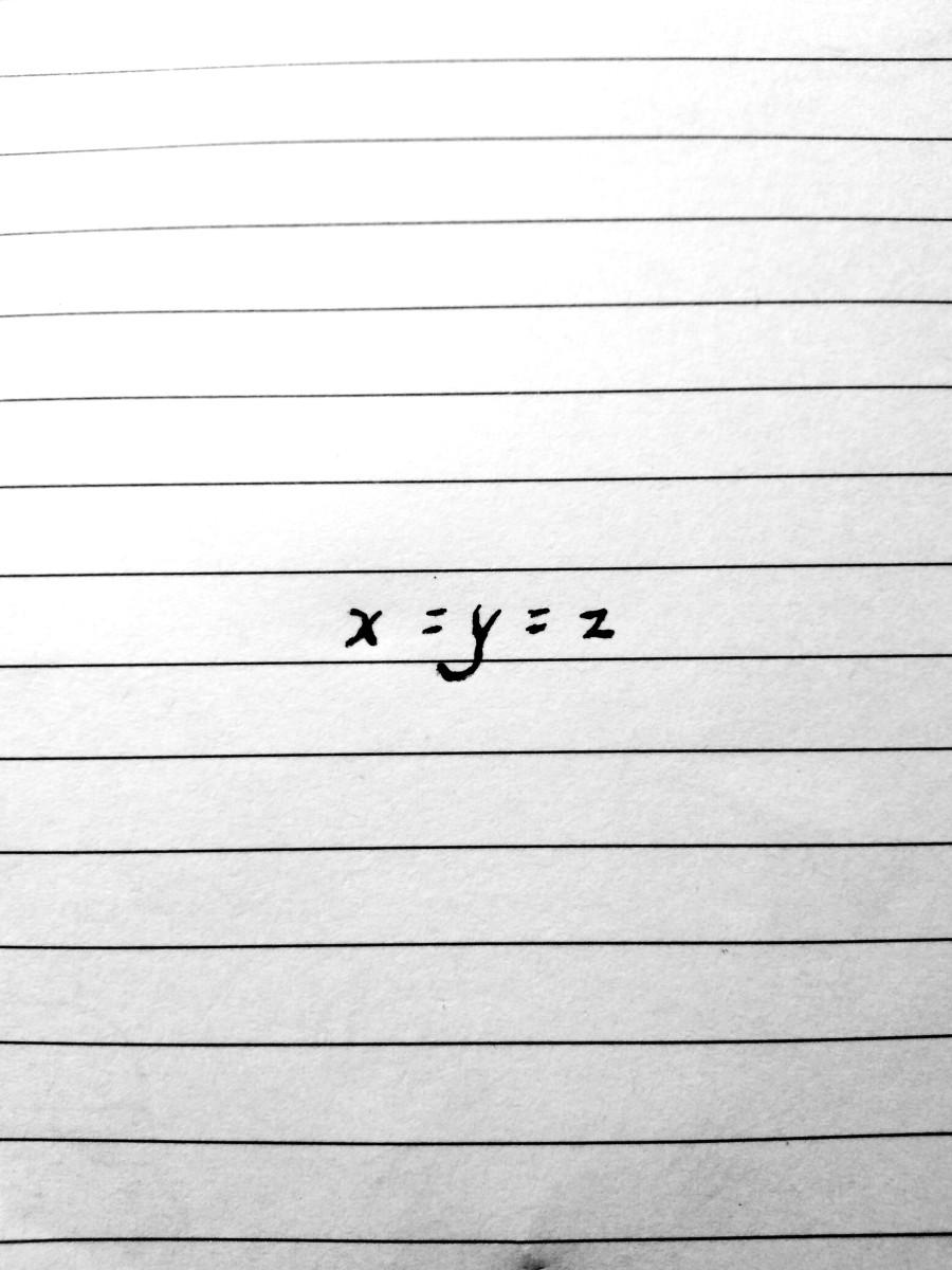 x=y=z