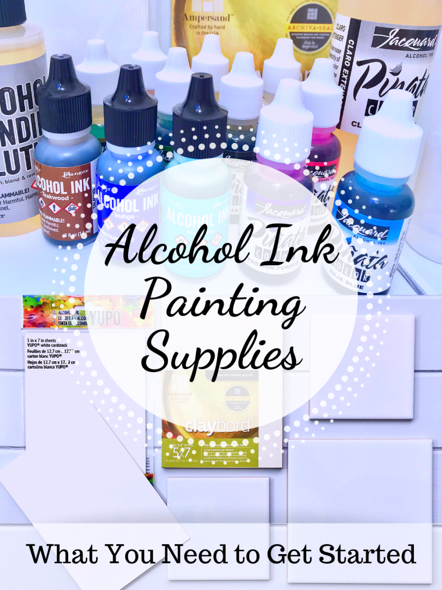 Learn what alcohol ink painting supplies you'll need for this type of art.