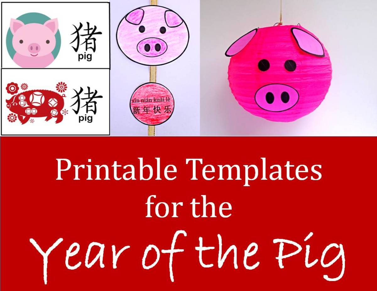 Printable Templates for Year of the Pig