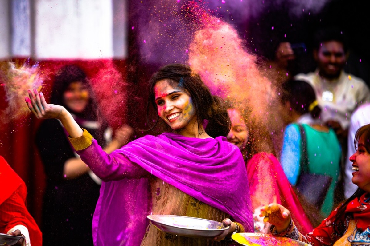 Holi, a Hindu spring festival originating from India