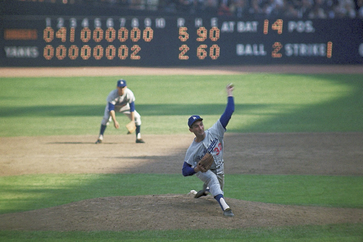 Sandy Koufax in Game 1.
