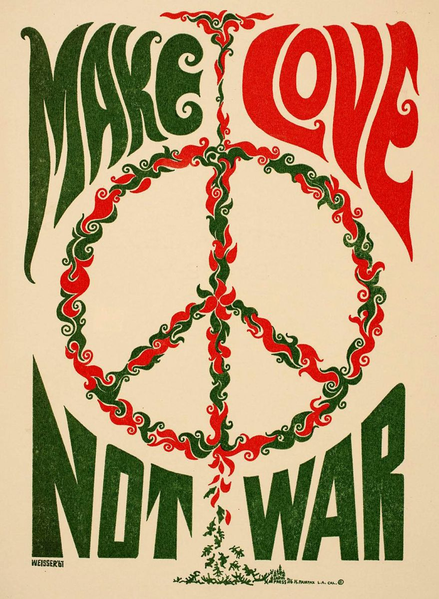During the Vietnam Era, the Peace Symbol became one of the more important images used in protesting the war