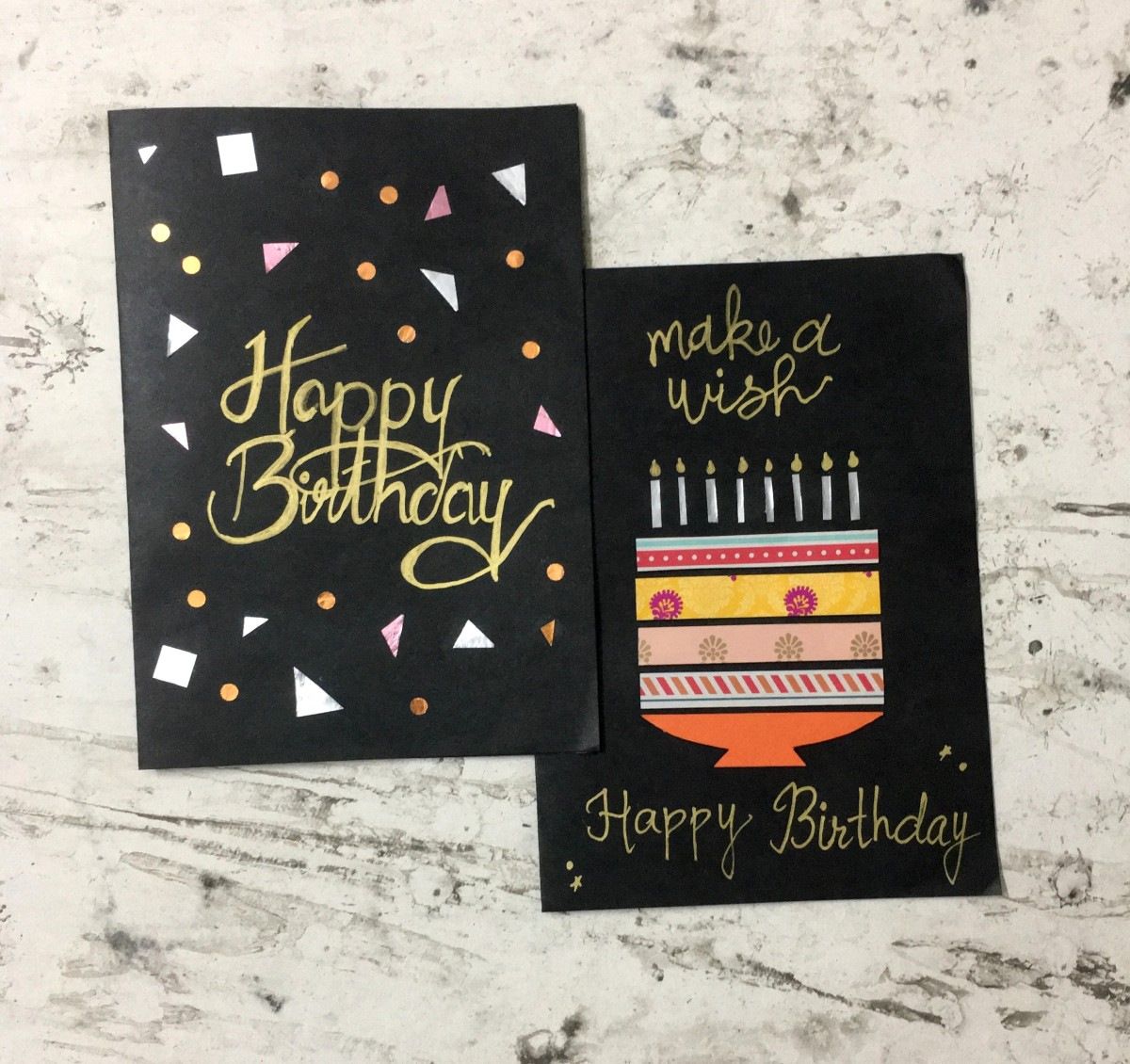 Super Easy 10-Minute DIY Birthday Greeting Cards