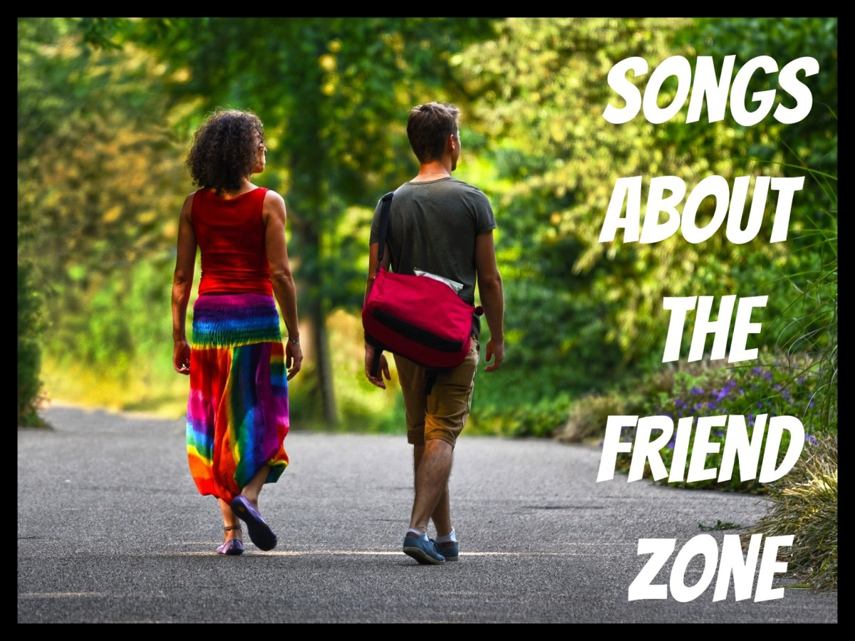 You're in the friend zone if you have a one-way romantic attraction to a friend.  Here are pop, rock, R&B, and country songs about the friend zone:  struggling to tell a friend you love them, flirting, and rejecting a friend as a dating partner.
