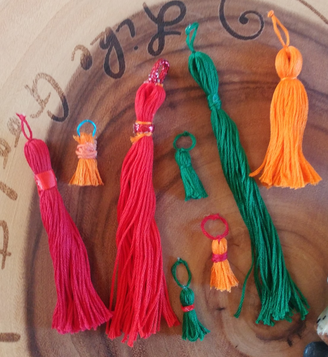 Here are some homemade tassels in a variety of styles. Get creative!