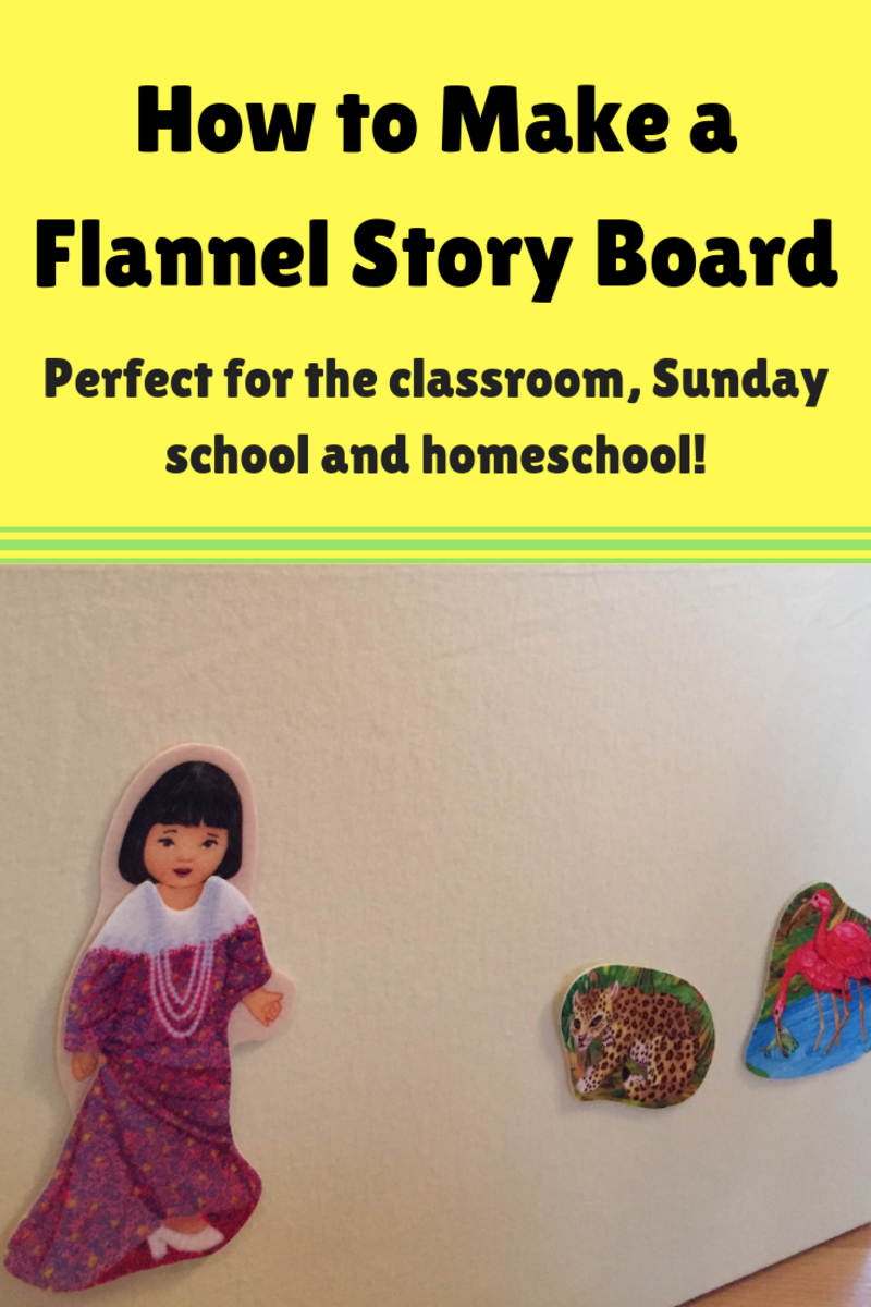How to Make a Felt or Flannel Story Board Yourself (With Pictures)