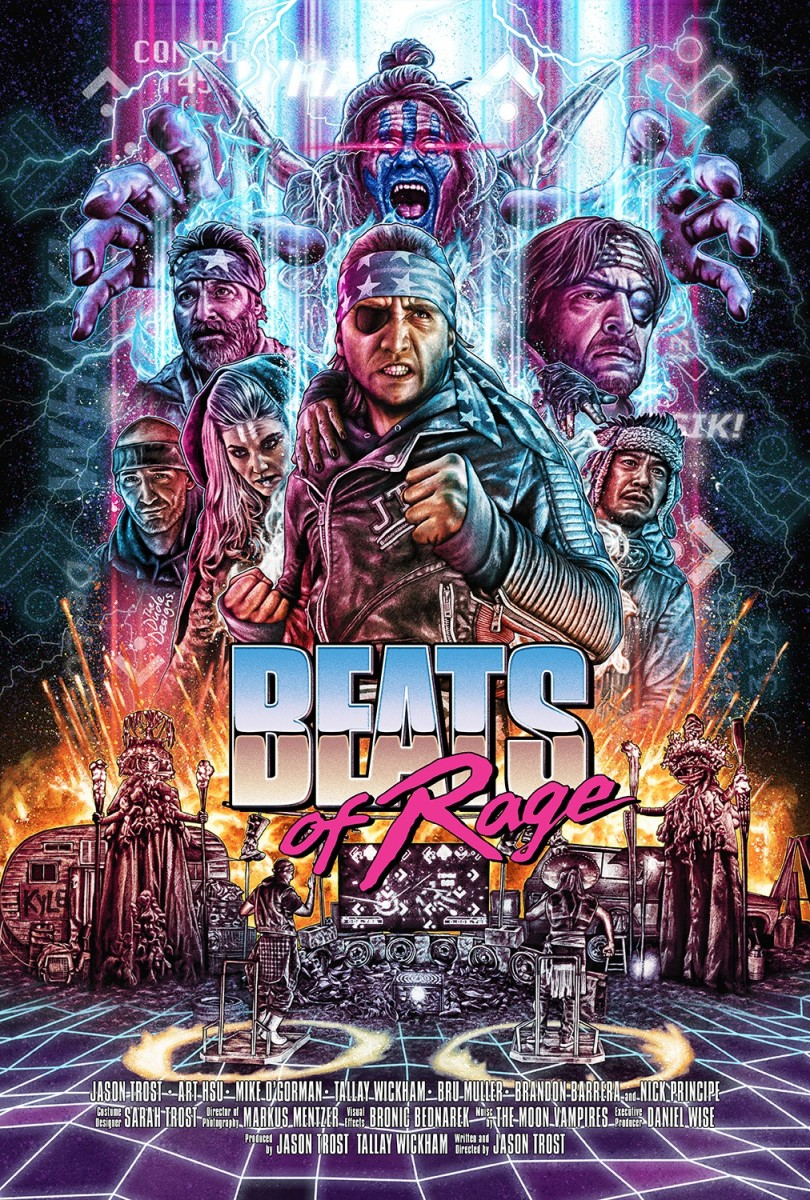 "The official theatrical poster for, ""Beats of Rage."""