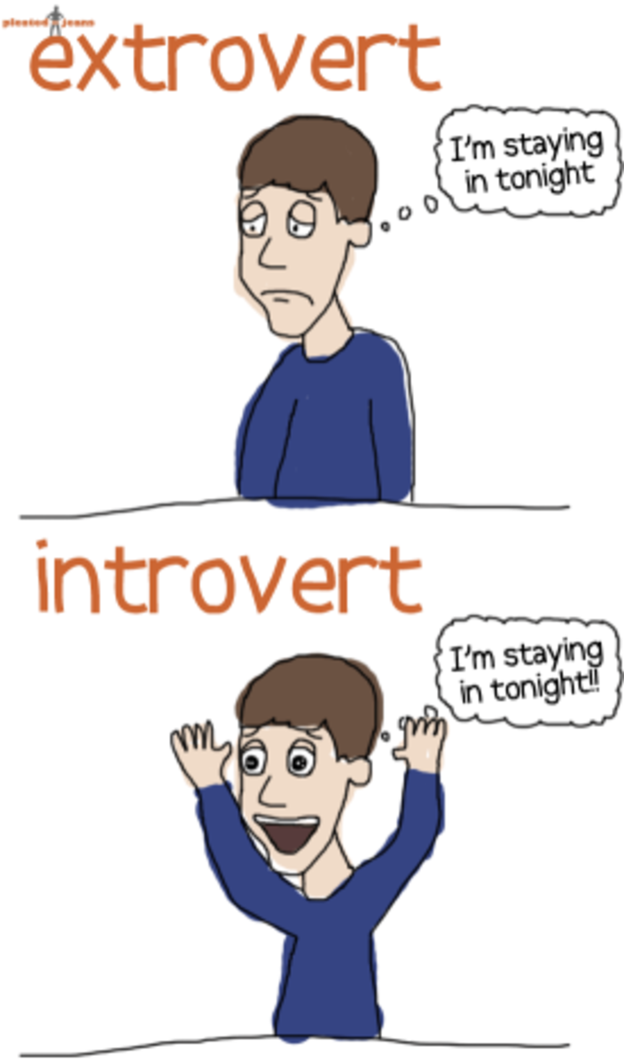 Introverts and extroverts view social interaction from different perspectives.
