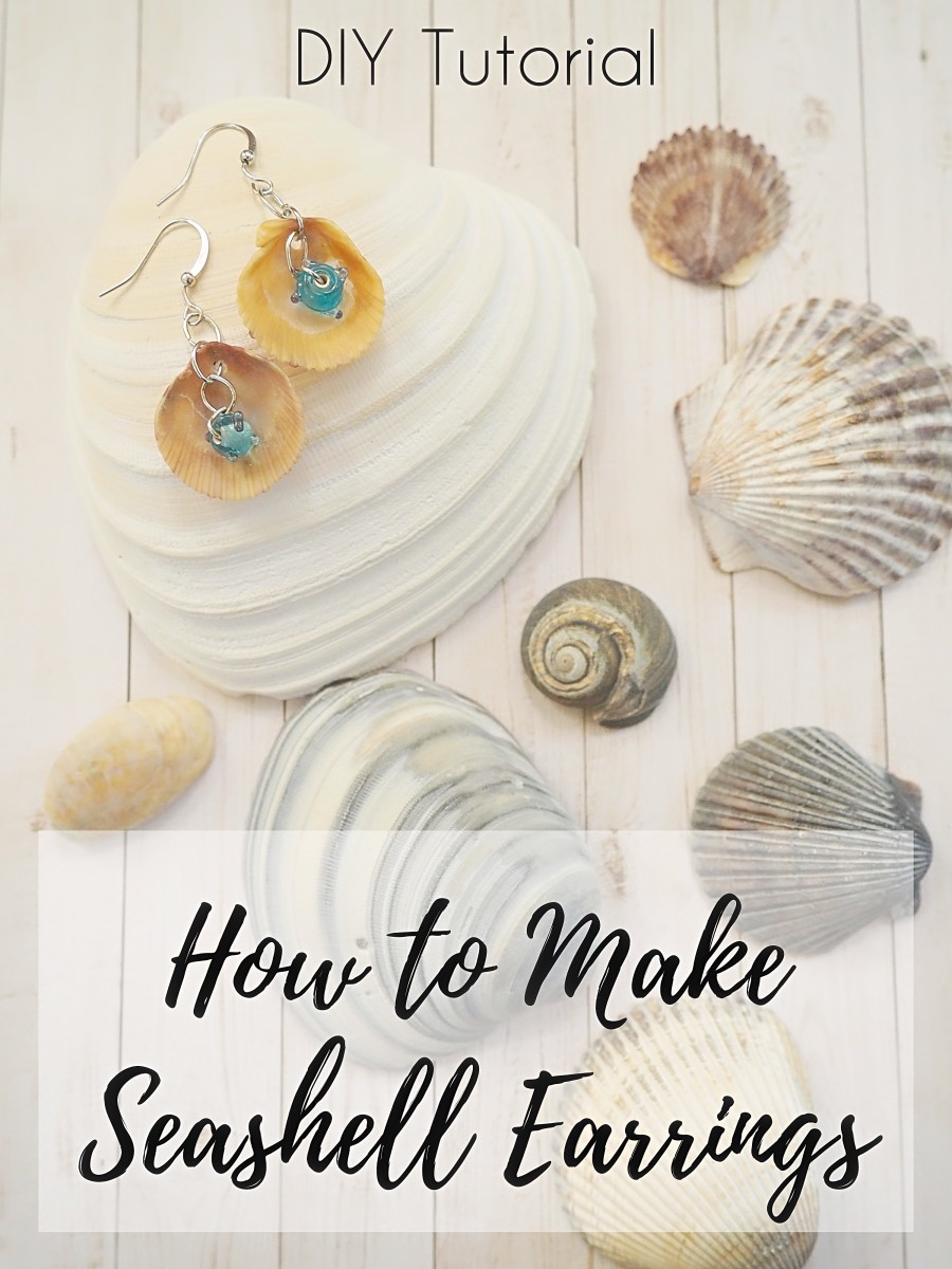An easy-to-follow DIY jewelry tutorial for making seashell earrings.