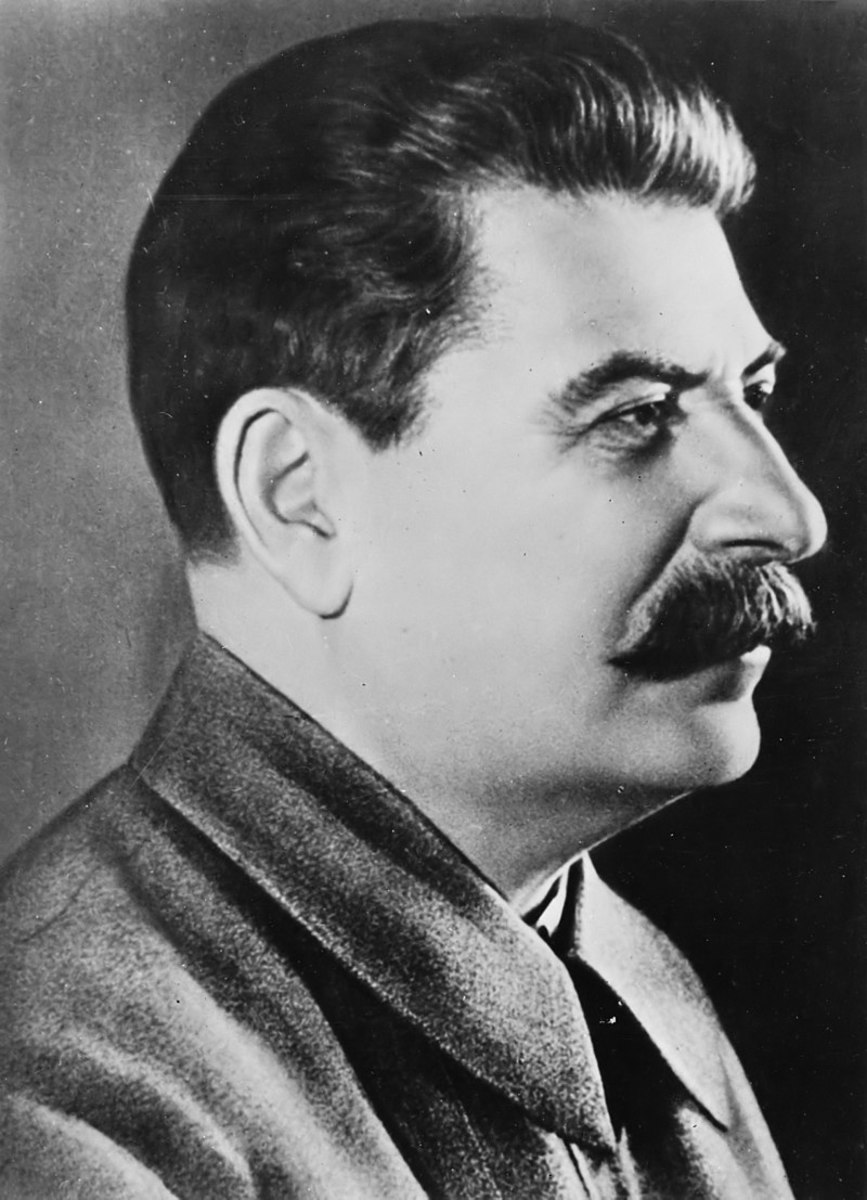 Portrait of Joseph Stalin.