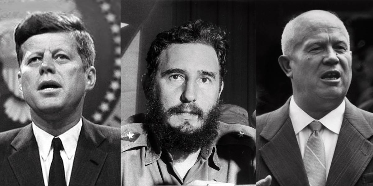 President John F. Kennedy, Fidel Castro, and Nikita Chrushchev