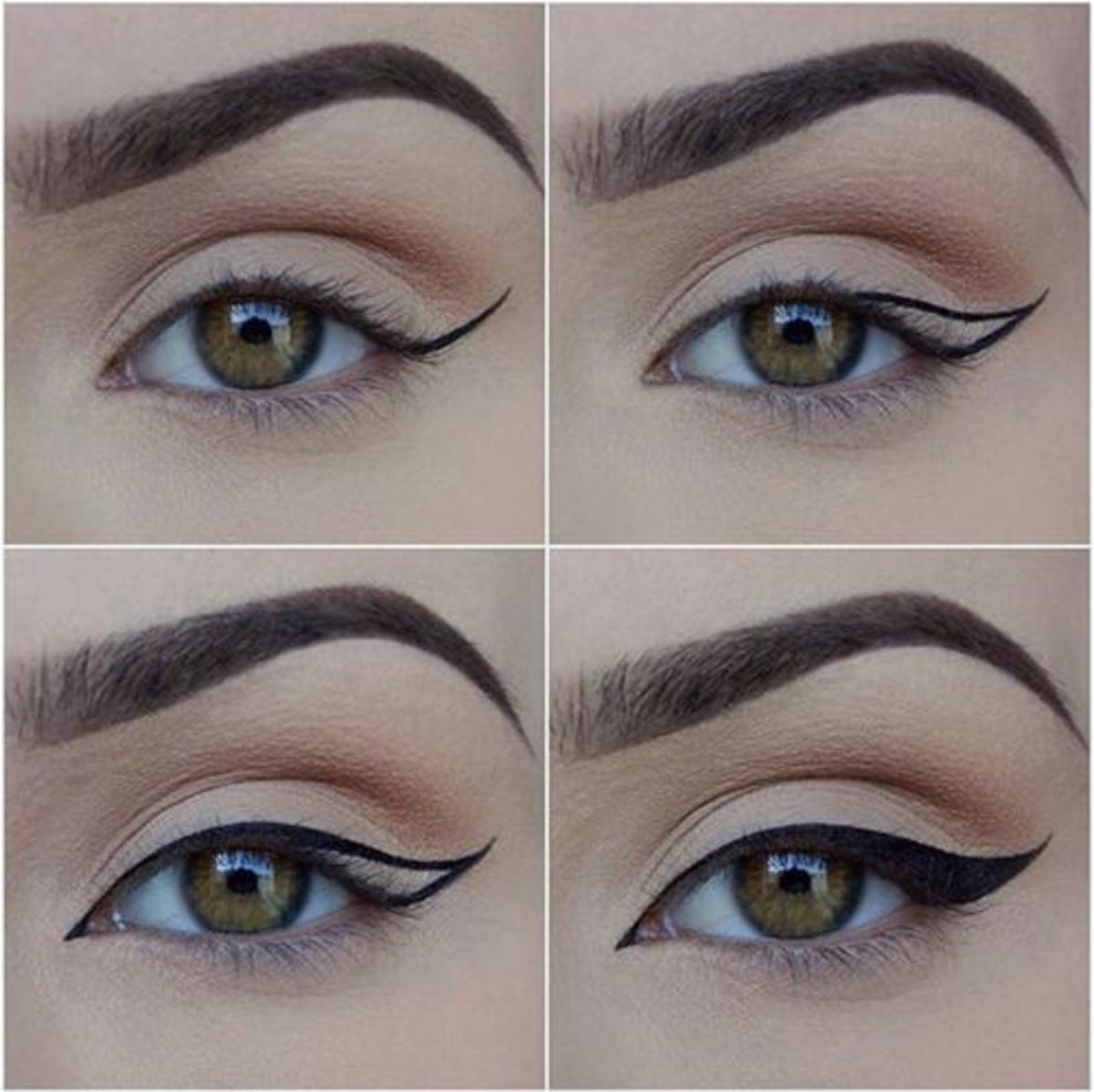 Follow your natural eye shape and draw a line that works with that.