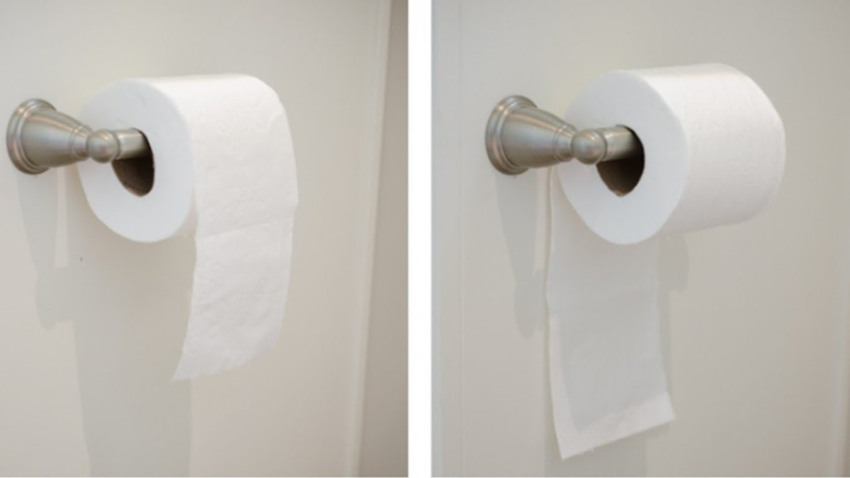 The Toilet Paper Debate: Should It Be Under or Over?