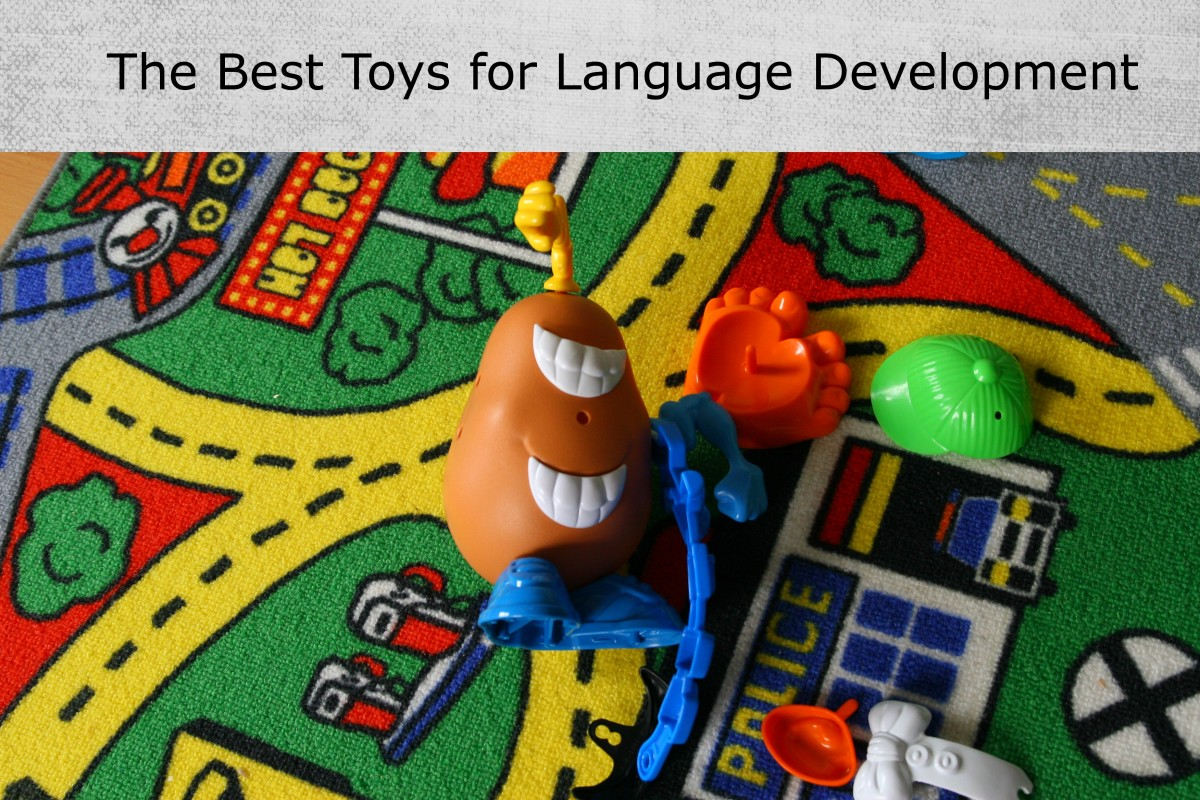 Low-tech toys that don't require batteries (but do require interaction) are the best bet for developing speech and language!