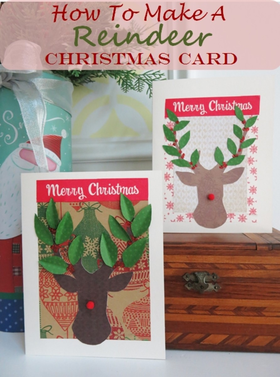 How to Make a Reindeer Christmas Card Without Any Special Equipment