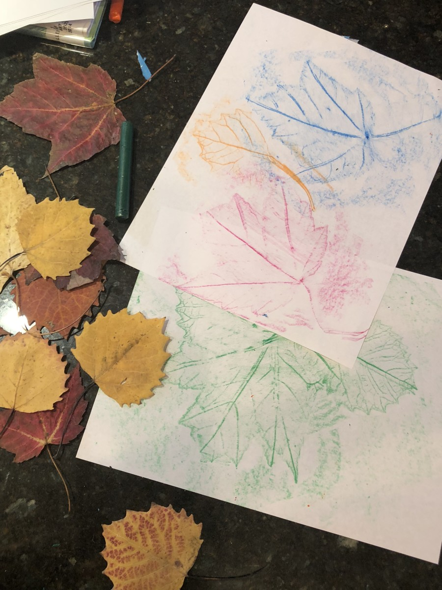 Leaf Rubbings: Fall Crafts With Kids
