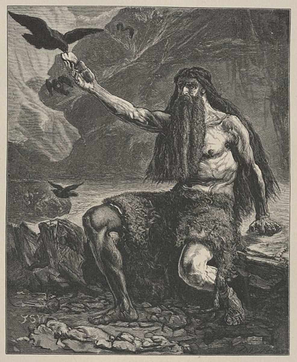 Raven feeds Elijah
