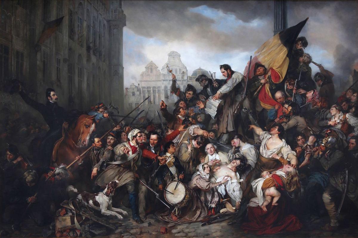Épisode des Journées de septembre 1830 sur la place de l'Hôtel de Ville de Bruxelles - Gustave Wappers