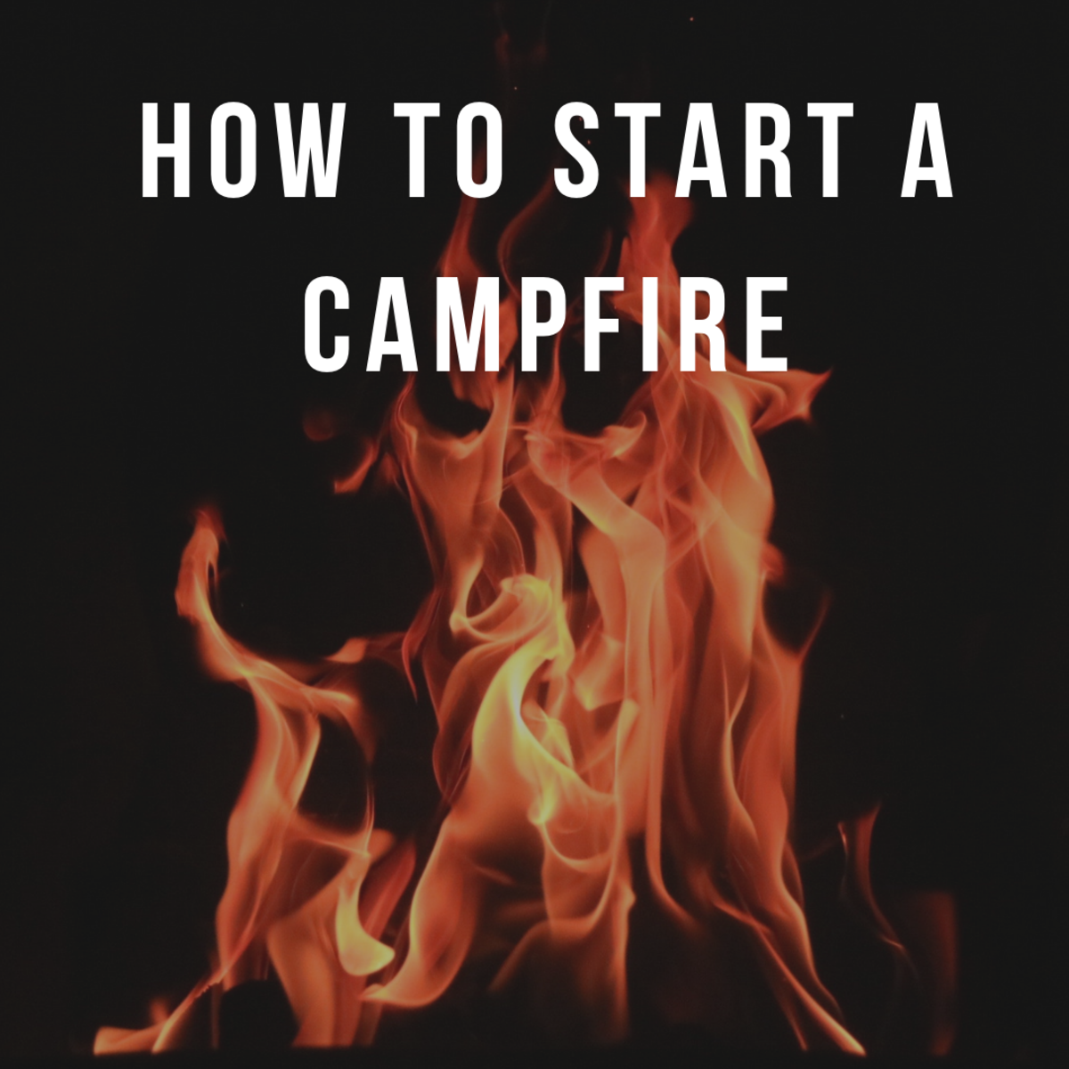 Tips for how to start a campfire when you're camping.