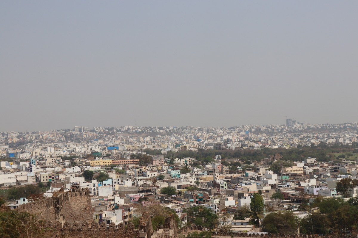 Aerial view of Hyderabad