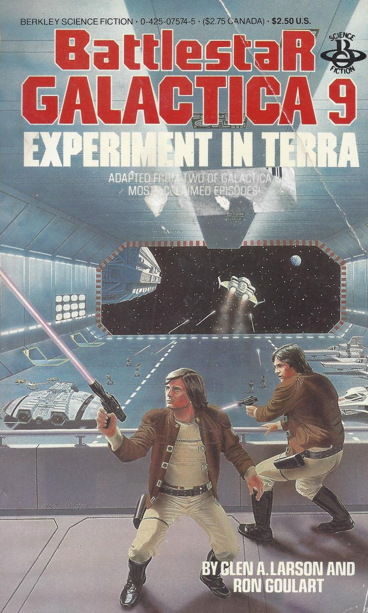 Cover of Novel Based on Original Battlestar Galactica Series